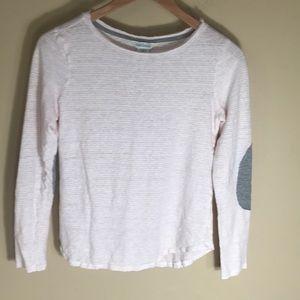 Sundance long sleeve stripe linen T-shirt